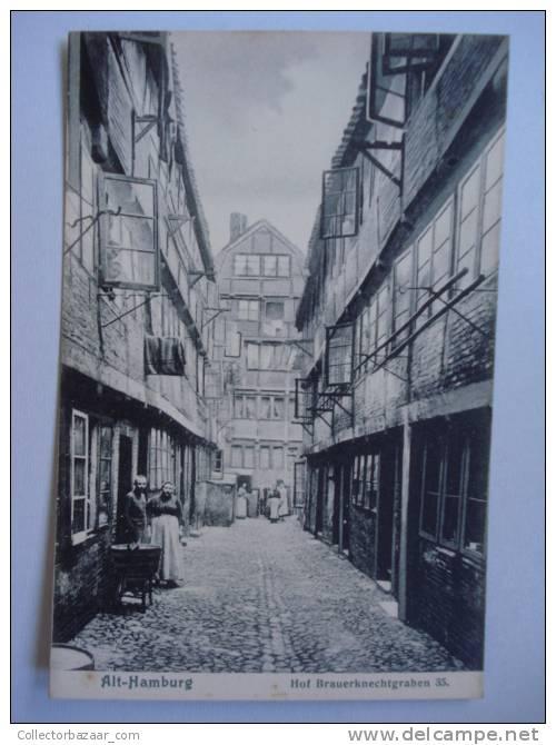 Vintage CA 1900 Postcard AK Germany Hamburg Hof Brauerknechtgraben - Deutschland