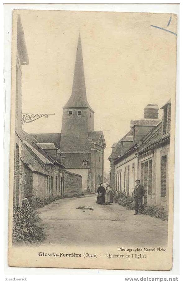 8222  GLOS LA FERRIERE - Le Quartier De L'église Photo Marcel Piche . - Non Classés