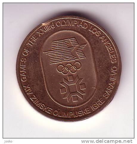 OLYMPIC GAMES Sarajevo & Los Angeles ( Yugoslavien Medal Or Token ) Jeton Tokens Gettone Medaille JEUX OLYMPIQUES - Unclassified