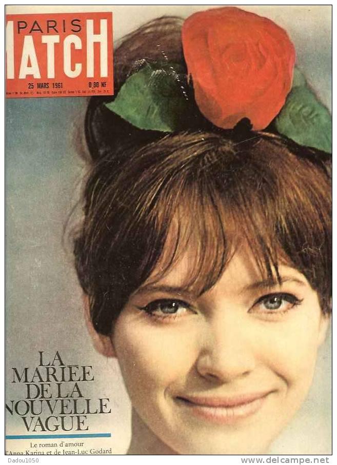 PARIS MATCH 25/03/1961 - Bücher, Zeitschriften, Comics