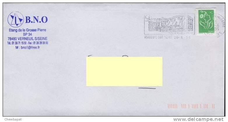 Verneuil-Sur-Seine - Espace Maurice Béjart 28.06.2005 - Marcophilie (Lettres)