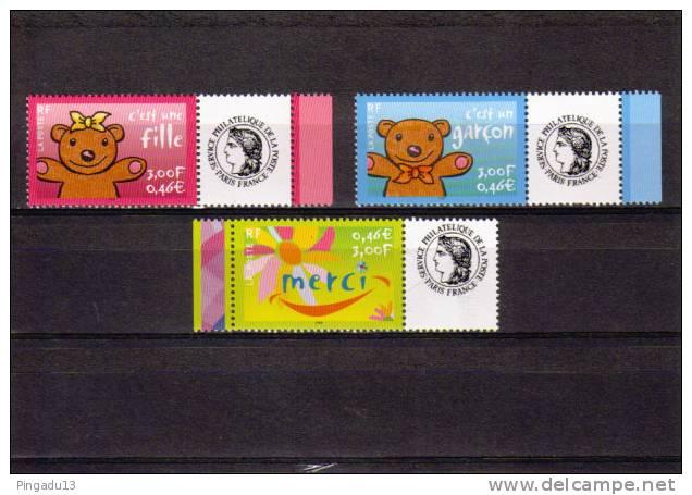 Personnalisés Année 2001 Complète 3 Valeurs  à Voir - Gepersonaliseerde Postzegels