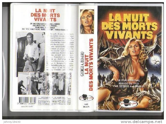 VHS LA NUIT DES MORTS VIVANTS - JUDITH O´DEA / RUSSEL STREINER / DUANE JONES - GEORGE A. ROMERO - Horreur