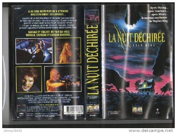 VHS LA NUIT DECHIREE - BRIAN KRAUSE / ALICE KRIGE / NICHOLAS PIKE - STEPHEN KING - Horreur