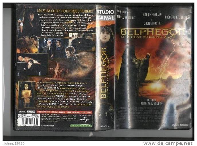 """VHS BELPHEGOR """" LE FANTOME DU LOUVRE """" - MICHEL SERRAULT / SOPHIE MARCEAU / JULIE CHRISTIE - Horreur"""