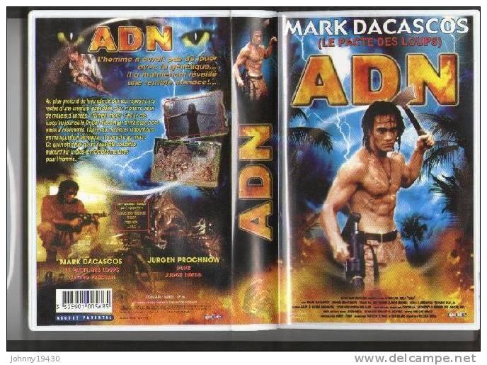 VHS  ADN - MARK DACASCOS / JURGEN PROCHNOW / AARON BROWN - Horreur