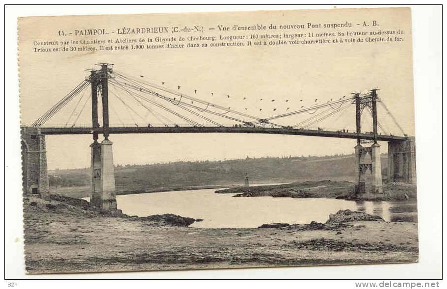22 - COTES D´ARMOR - Pont Suspendu Entre PAIMPOL Et LEZARDRIEUX - France