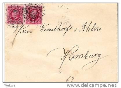 S-019/ Brief Mit Oscar II, 10 Öre Im Paar, 1901 Nach Hamburg - Schweden