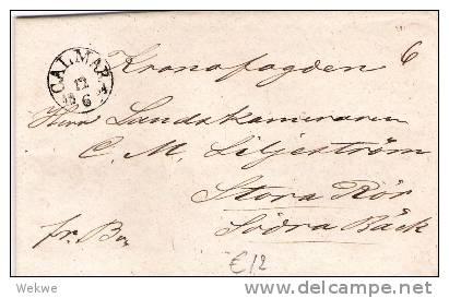 S-021/Calmar 1864, Handschriftlicher Taxvermerk 6, (mit Textinhalt) - Schweden