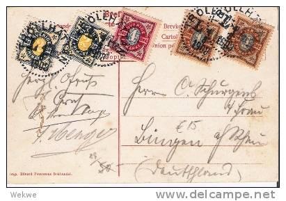 S-024/ Ansichtskarte Trollhättan Mit Ziffernfrankatur 1903 Nach Deutschland - Schweden