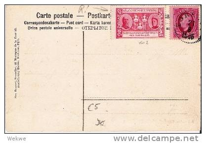 S-035/Tuberkulosemarke Nr. 2, Auf Ansichtskarte Felsenküste, 1906 - Schweden