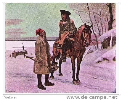 S-036/Karte Schwedisches Rotes Kreuz (Red Cross, Cruz Roja)), M. Landstormen-Überdruck 1917 - Schweden