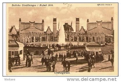 S-037/Fotokarte, Sonderstpl.Baltische Ausstellung Malmö 1914, Centralgarden) - Schweden