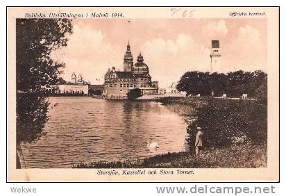 S-038/Baltische Ausstellung Malmö 1914, Bildkarte + Sonderstpl. - Schweden