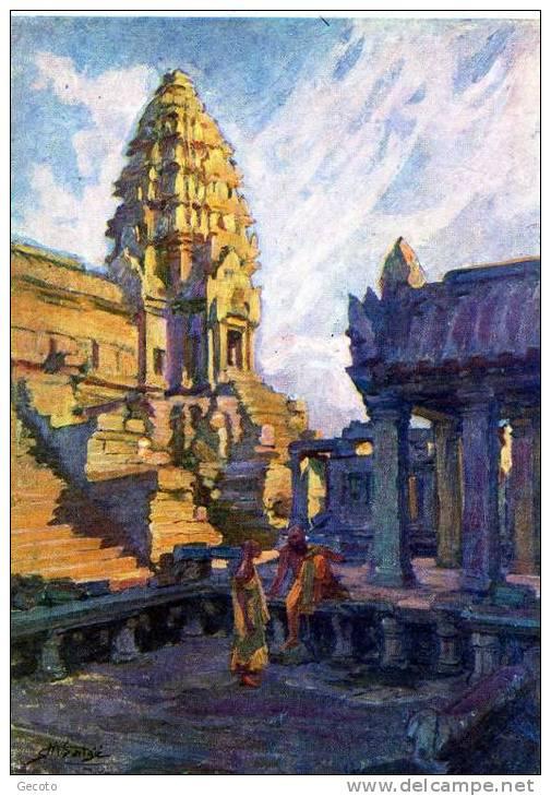 Angkor Wat - Tour D'angle Le Soir - Cambodge