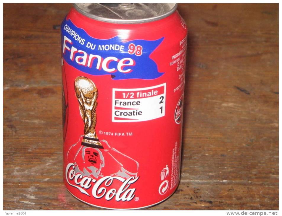 COCA COLA CANNETTE FRANCE 98 1/2 FINALE FRANCE CROATIE N°3 - Cannettes