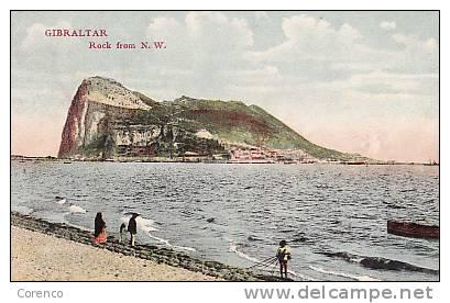 GIBRALTAR   ROCK FROM  N W   Manque Le Dos - Gibilterra