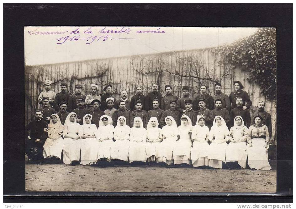 27 VERNON Guerre 1914-18, Carte Photo, Hopital, Groupe, Infirmières, Militaires, Croix Rouge, 1915 - Guerre 1914-18