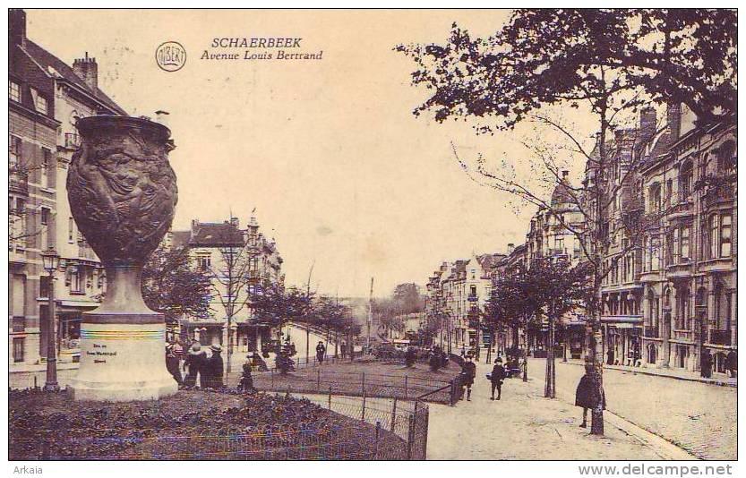 SCHAERBEEK = Avenue Louis Bertrand - Animée  (Albert) 1921 - Schaarbeek - Schaerbeek