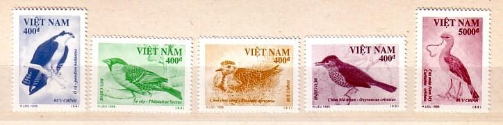 VIETNAM  1995  BIRDS  5v.-MNH - Birds
