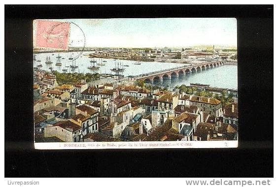 Cpa , Bordeaux , Vue De La Rade ....., Phototypie C Chambon , Voyagé - Bordeaux