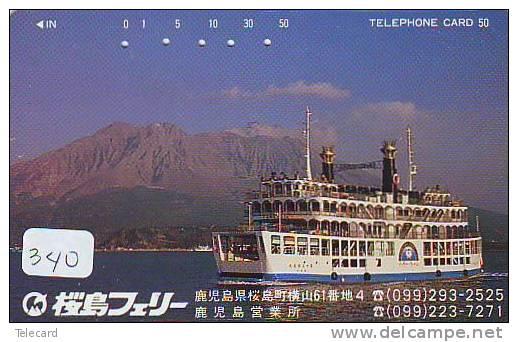 Télécarte Telefonkarte  Ship (340) Bateau - Schiff - Schip - Boot - Barco - Phonecard Japon Japan - Boats