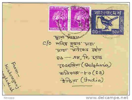 Bangladesh-Used Prepaid Envelope-Bird On Cover - Bangladesh