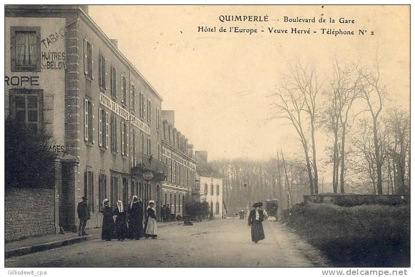 Quimperlé  - Hotel De L'Europe - Boulevard De La Gare - Quimperlé