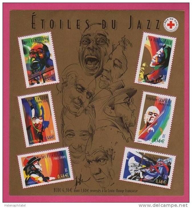 Les Personnages Célèbres Grands Interprètes De Jazz N° 50 LUXE ** - Blocs & Feuillets