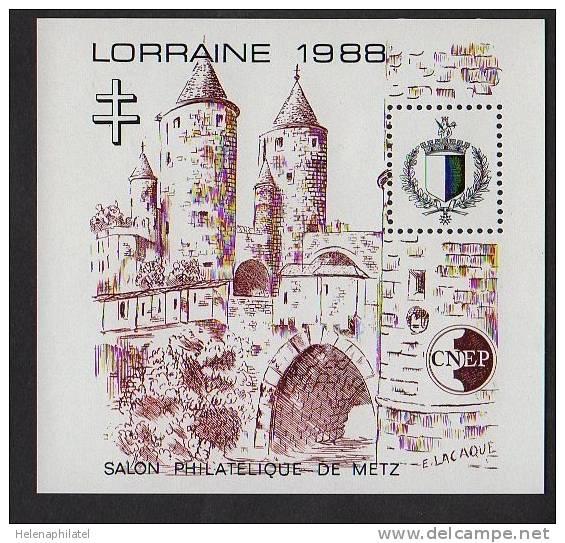 Feuillet Souvenir CNEP N° 9 Salon Philatélique Nde Metz Lorraine 1988 ** Luxe - CNEP