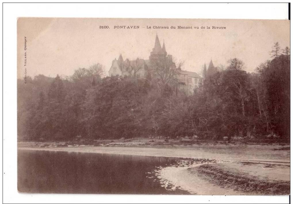 3100  -   PONT - AVEN   - Le Château  Du Henant Vu De La Rivière - Pont Aven