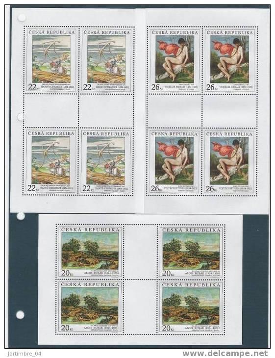 2004 RépubliqueTCHEQUE 383-85**  Tableaux, Feuillets De 4, Kleinbogen - Tchéquie