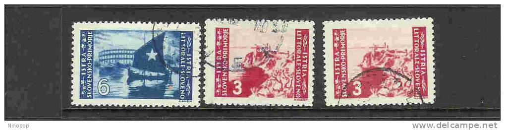 Italy-1946 Yugoslav Occup. Istria Belgrade Printing  Set MH - Yugoslavian Occ.: Istria