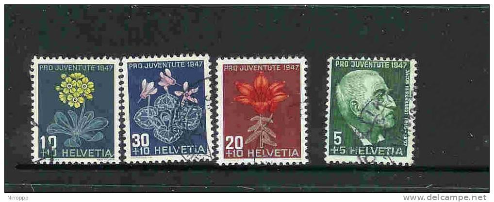 Switzerland-1947 Pro-Juventute Used Set - Pro Juventute