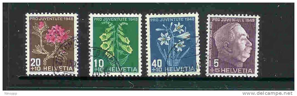 Switzerland-1948  Pro-Juventute Used Set - Pro Juventute