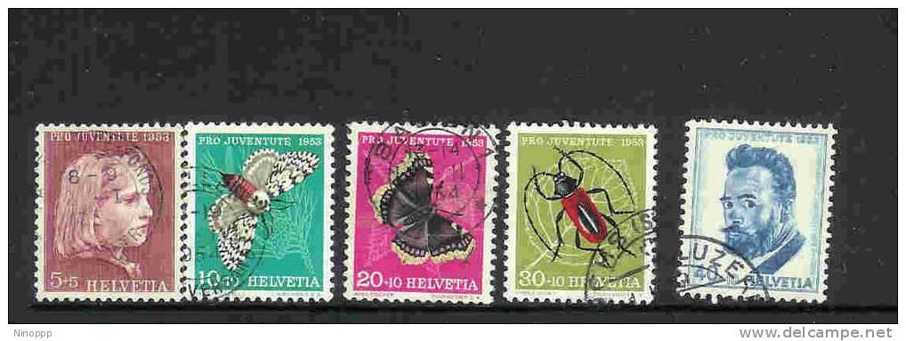 Switzerland-1953  Pro-Juventute Used Set - Pro Juventute