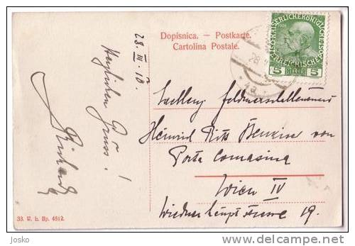 METKOVIC  (Metković ) **  Travelled 1910.  **  Croatia ** SUPER - Croatia