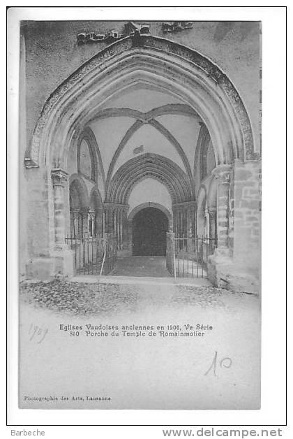 Egise Vaudoise Ancienne En 1906 Porche De Romainmotier (1) - VD Waadt