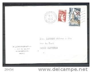 92  MEUDON BELLEVUE  Le 2 6 1978  HAUT De SEINE    5LD   Num 1933 Et 1965 Pour NANTERRE - 1961-....