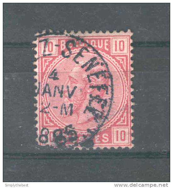 Timbre No 38 Cachet Simple Cercle (FAYT-L)EZ-SENEFFE 1885 - NIPA 400  --  GG326 - 1883 Leopold II