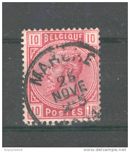 Timbre No 38 Cachet Simple Cercle MARCHE 1884  --  GG332 - 1883 Leopold II
