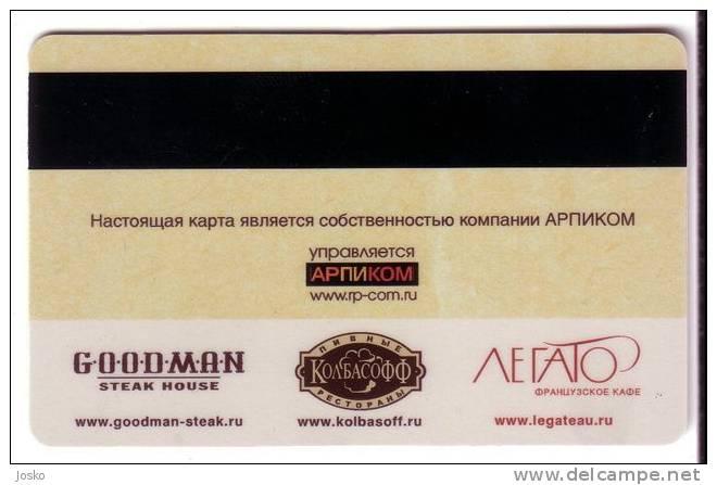 PASTA MAMMA  Italy Restaurant ( Russia Gift Card ) *** Food - Aliment - Alimentation - Nahrung - Kost - Comida Alimento* - Lebensmittel
