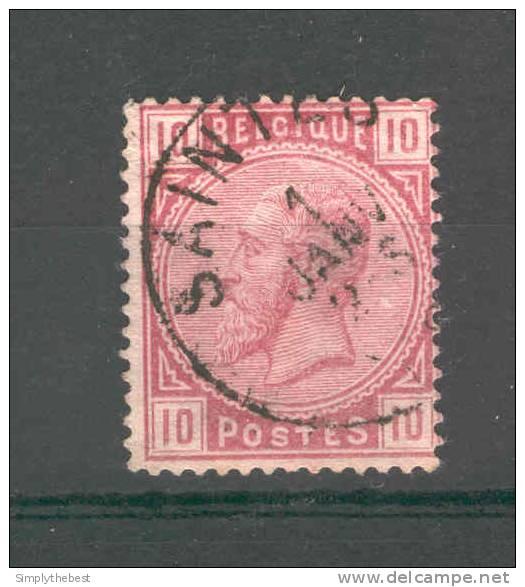 Timbre No 38 Cachet Simple Cercle SAINTES - NIPA 500  --  GG337 - 1883 Leopold II