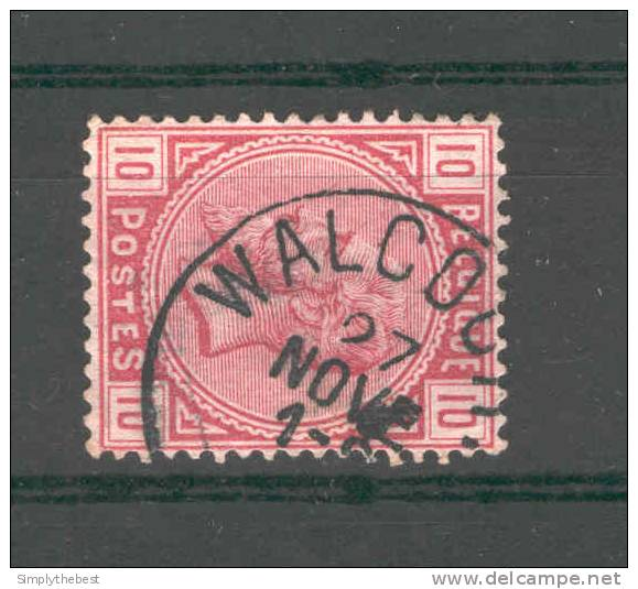 Timbre No 38 Cachet Simple Cercle WALCOURT  --  GG343 - 1883 Leopold II