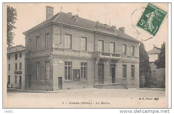 Dép 69 - L423 - Cours La Ville - La Mairie  - Bon état Général - Cours-la-Ville