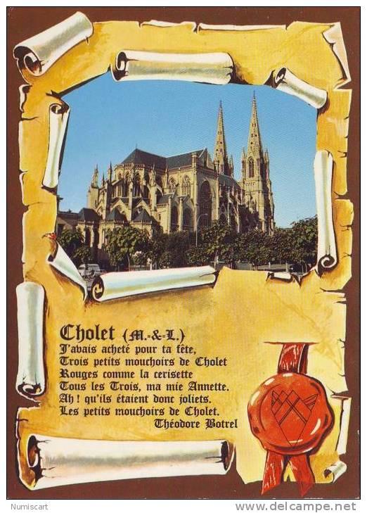SUPERBE CPM..DE..CHOLET..BELLE VUE DE L´EGLISE NOTRE DAME.. - Cholet