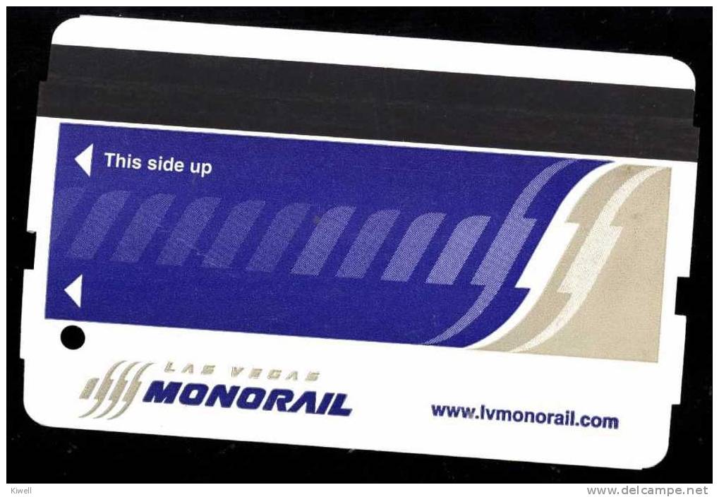 MONORAIL CARD LAS VEGAS*** - Railway
