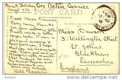 KEN005 / KENYA -  Feldpost 1916 Nairobi Ansichtskarte Court House Nairobi - Kenya, Uganda & Tanganyika