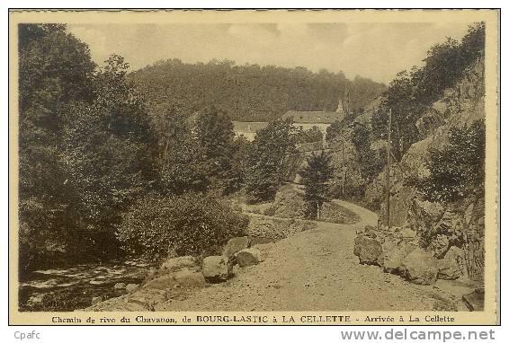 CPA Chemin De Rive Du Chavanon,de Bourg-Lastic à La Cellette-arrivée à La Cellette - Non Classificati