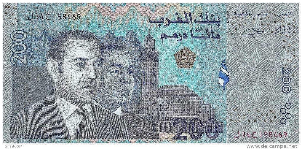 MOROCCO/MARROCCO 200 DIRHAMS NOTE - NEW! - Morocco